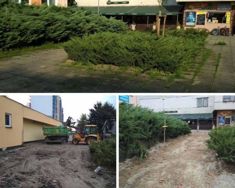 Oprava plochy na Třanovského