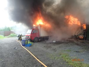 Požár garáže F-M