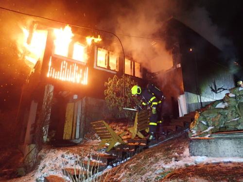 Požár chaty FnO