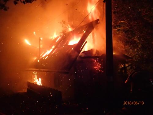 Požár chaty Chlebovice