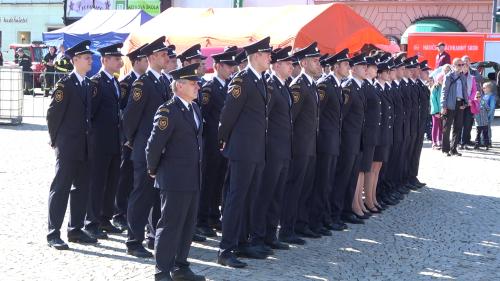 Slib nových profesionálních hasičů